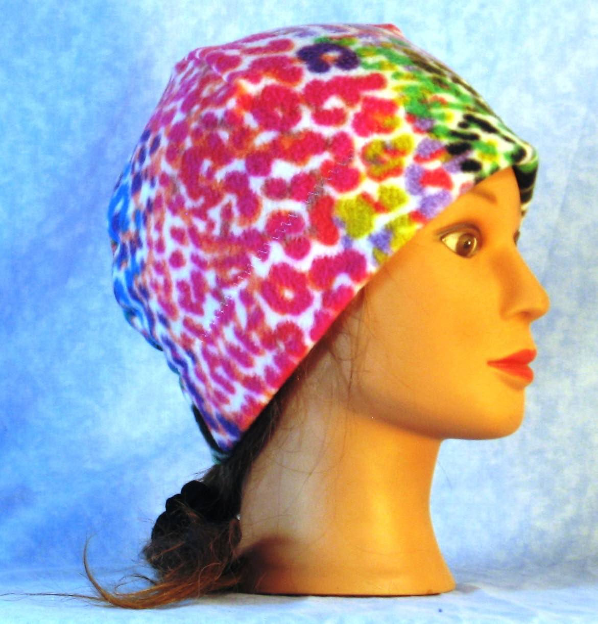 Beanie Band Cap in Rainbow Bright Speckle-Adult S