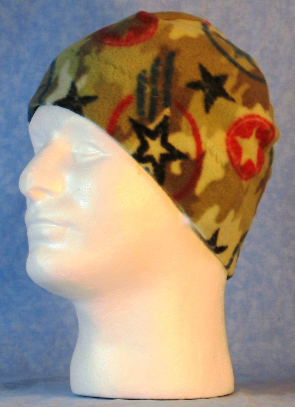 Beanie Band Cap in Star Camo-Adult S
