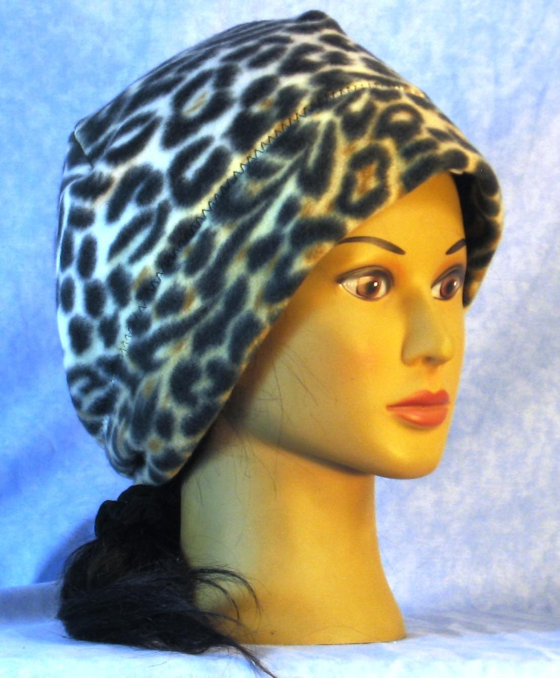 Beanie Band Cap in Black Brown White Animal-Adult 1XL