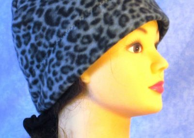 Band Cap in Black Gray Leopard - right