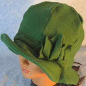 Cloche Hat in Green - top left