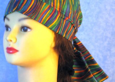 Do Rag in Green Blue Yellow Purple Waves - front left