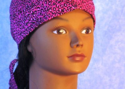 Do Rag in Pink Leopard - front right