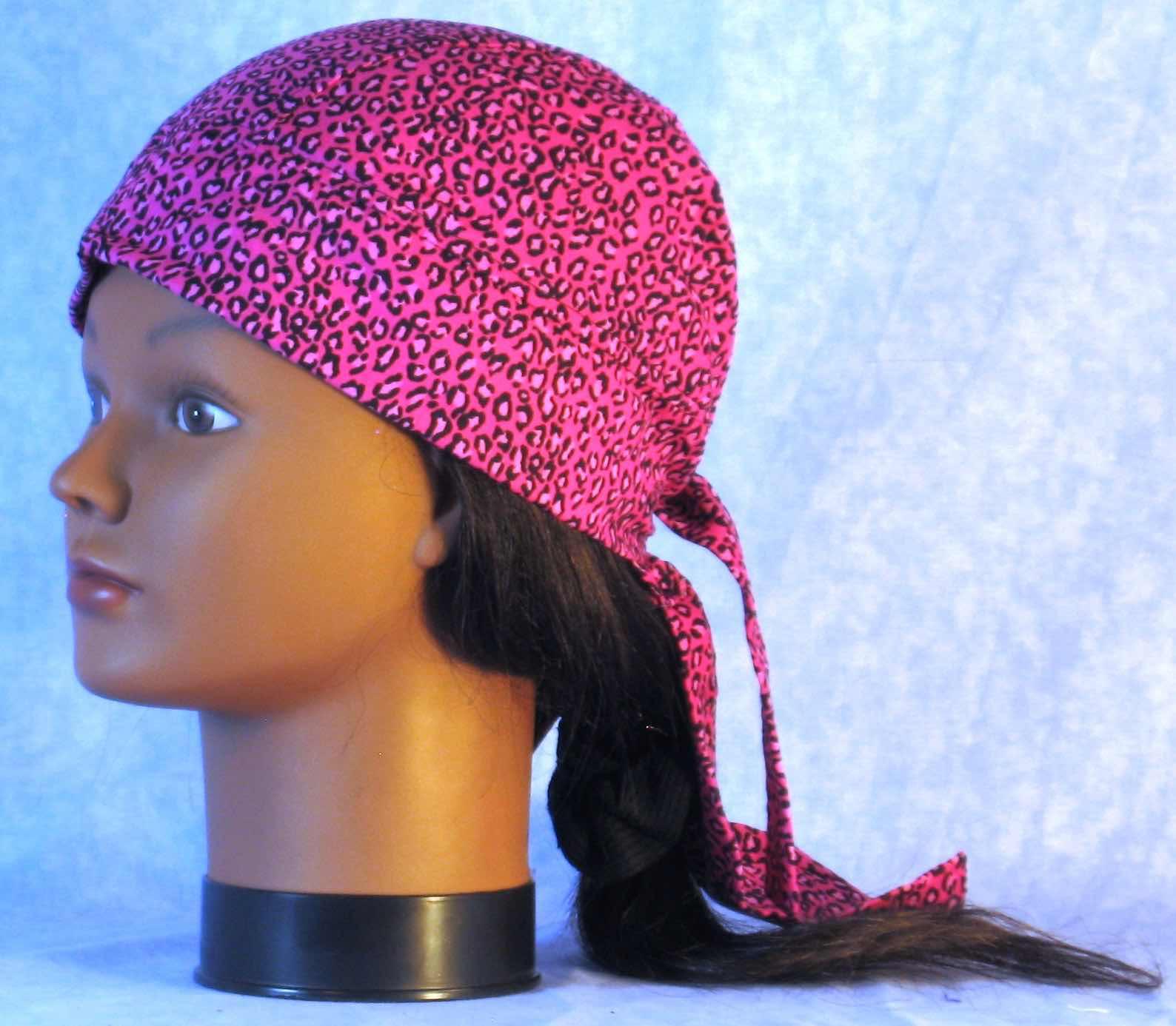 Do Rag - Pink Leopard-left