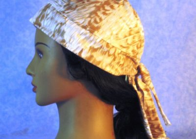 Do Rag in White Gold Feathers - left
