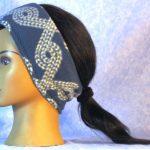Ear Warmer in Blue Rope - left