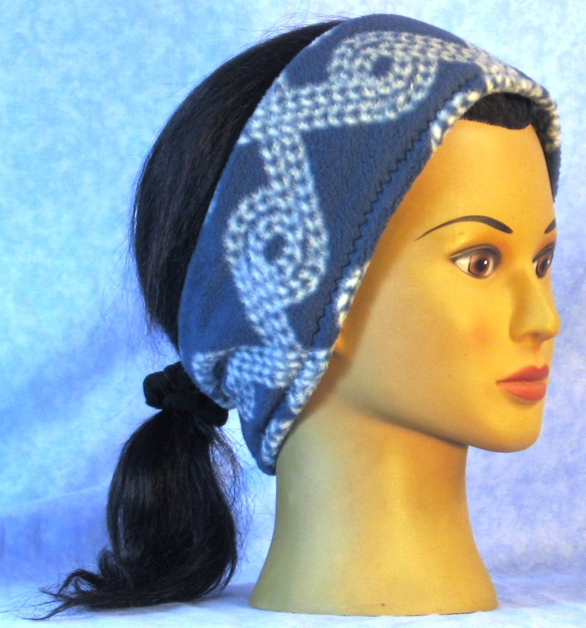 Ear Warmer in Blue Rope-Adult L