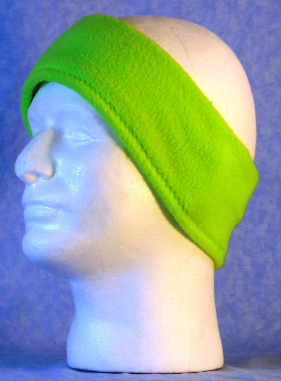 Ear Warmer in Fluorescent Green-Adult M