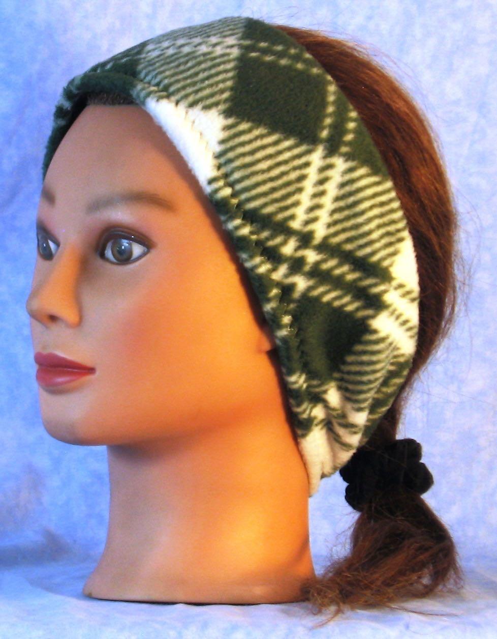Headband Plaid Ear Warmer top seller Plaid Fleece Ear Warmer