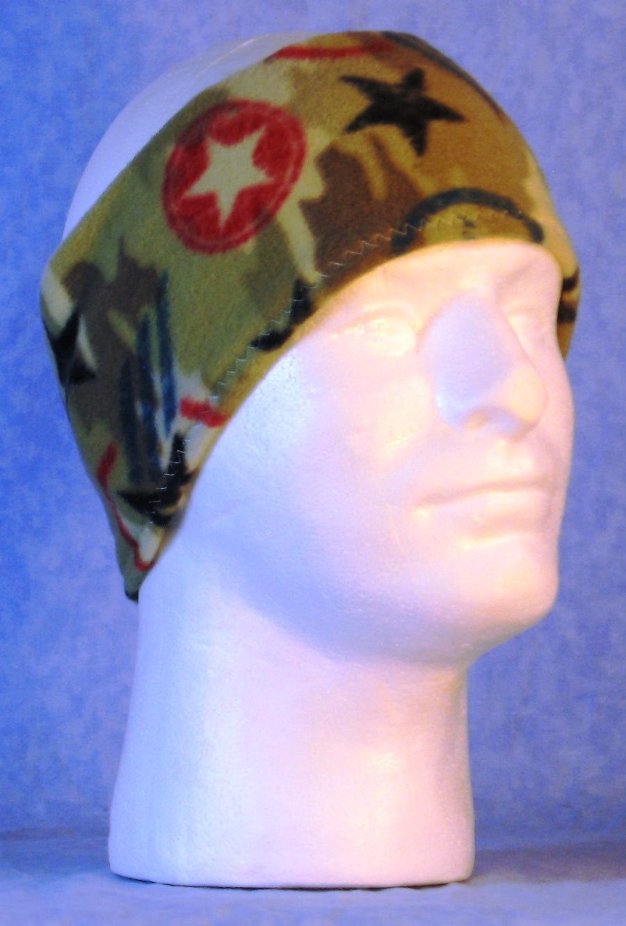 Ear Warmer in Star Camo-Youth S-M