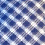 Flat Cap in Blue White Plaid - closeup