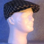Flat Cap in Blue White Plaid - right