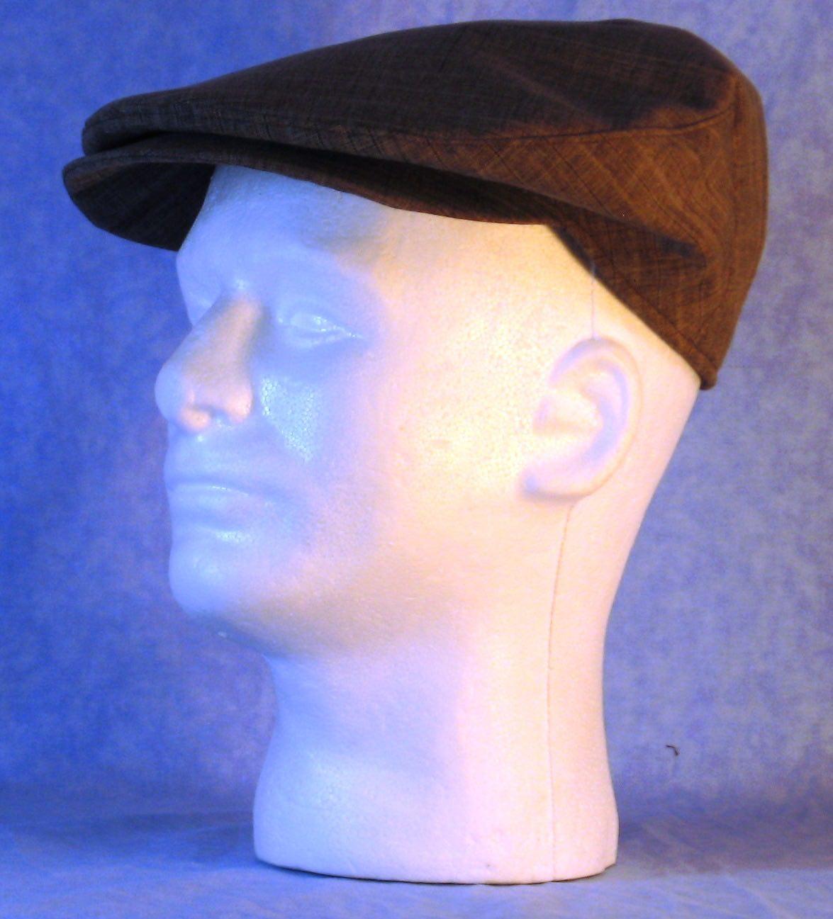 FlatCap-Brown Stripe Suiting-left
