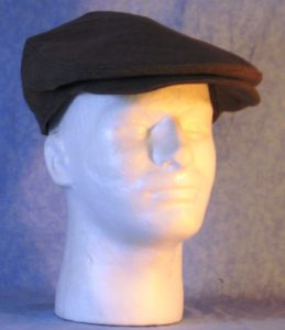 Flat Cap in Brown Suiting - front