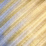 Flat Cap in Cream Stripes Woven - closeup