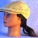 Flat Cap in Cream Stripes Woven - left