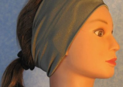 Headband in Gray Swim Knit - right