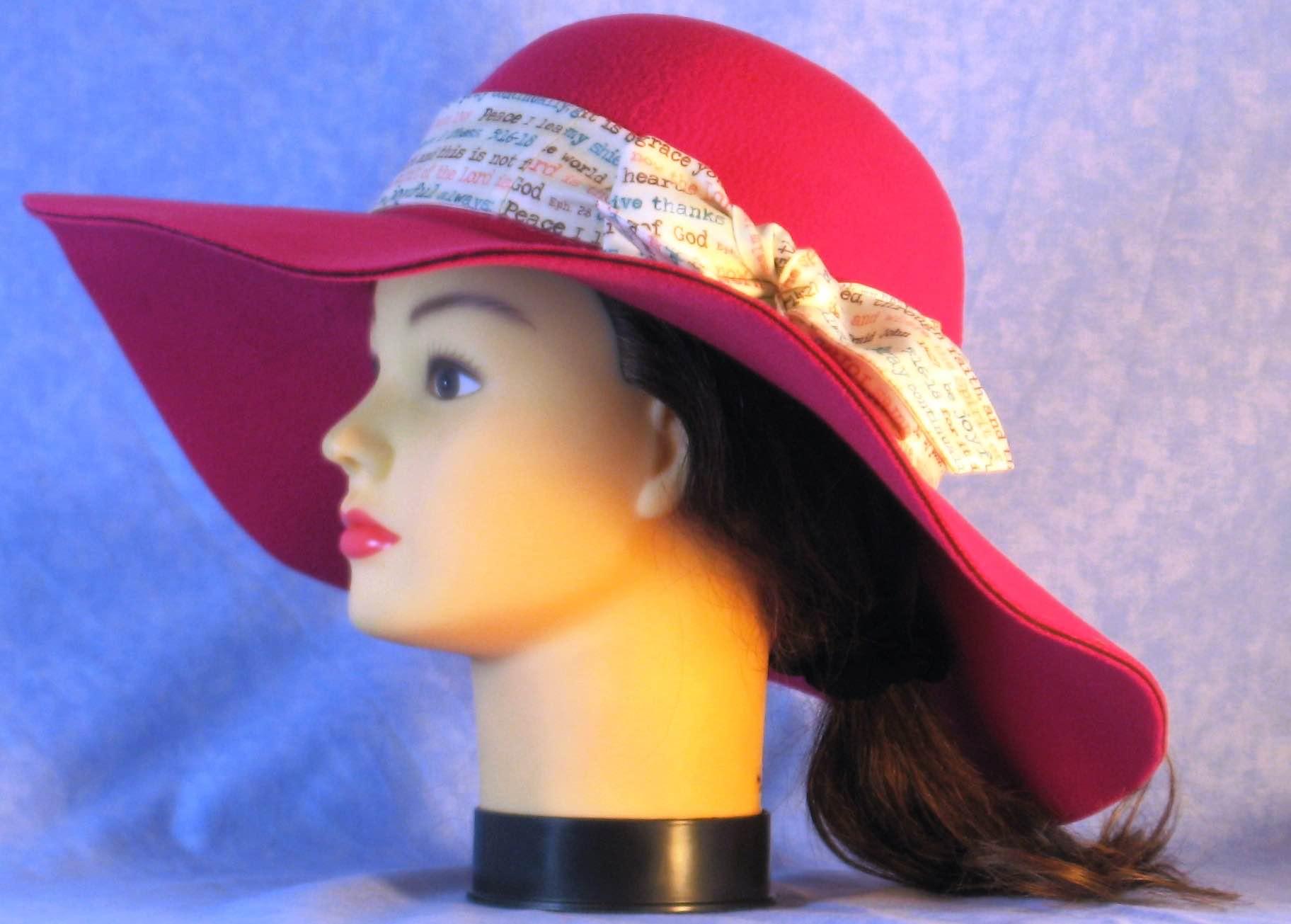 Floppy Hat-Pink Polyester Felt