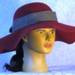 Hat Band in Black Gray Homespun - front