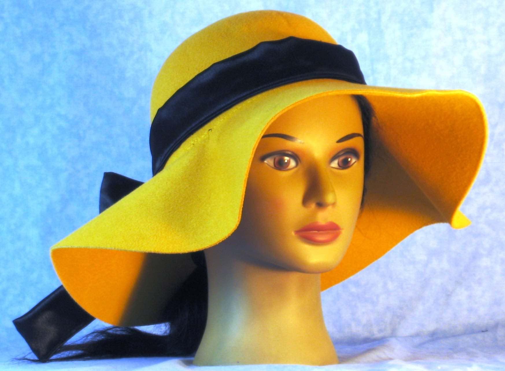 Floppy Hat-Mustard Polyester Felt