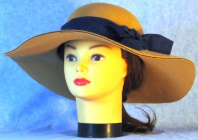 Hat Band in Black Scroll on Royal Blue - front 1