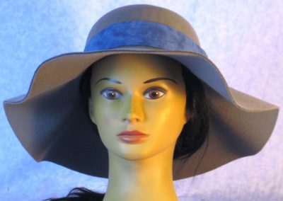 Hat Band in Dusty Blue Tonal - front