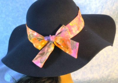 Hat Band in Ethnic Tie Dye Africa - back