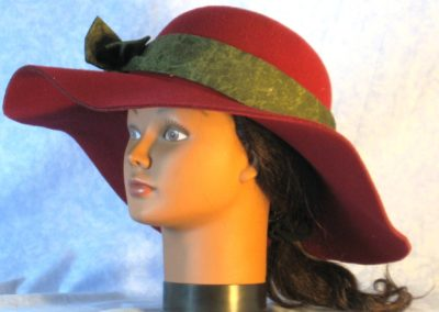 Hat Band in Olive Marble - front left