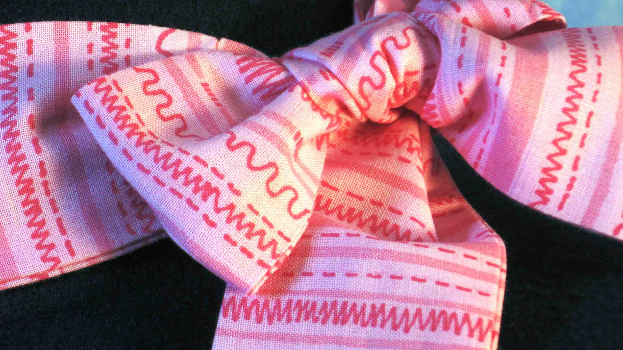 HatBand-Pink Pink Squiggle Stripe-closeup