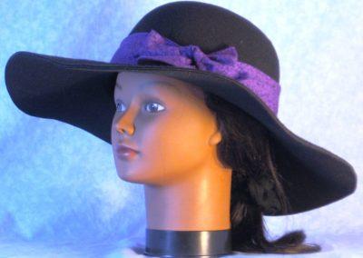 Hat Band in Purple Purple Daisy - left