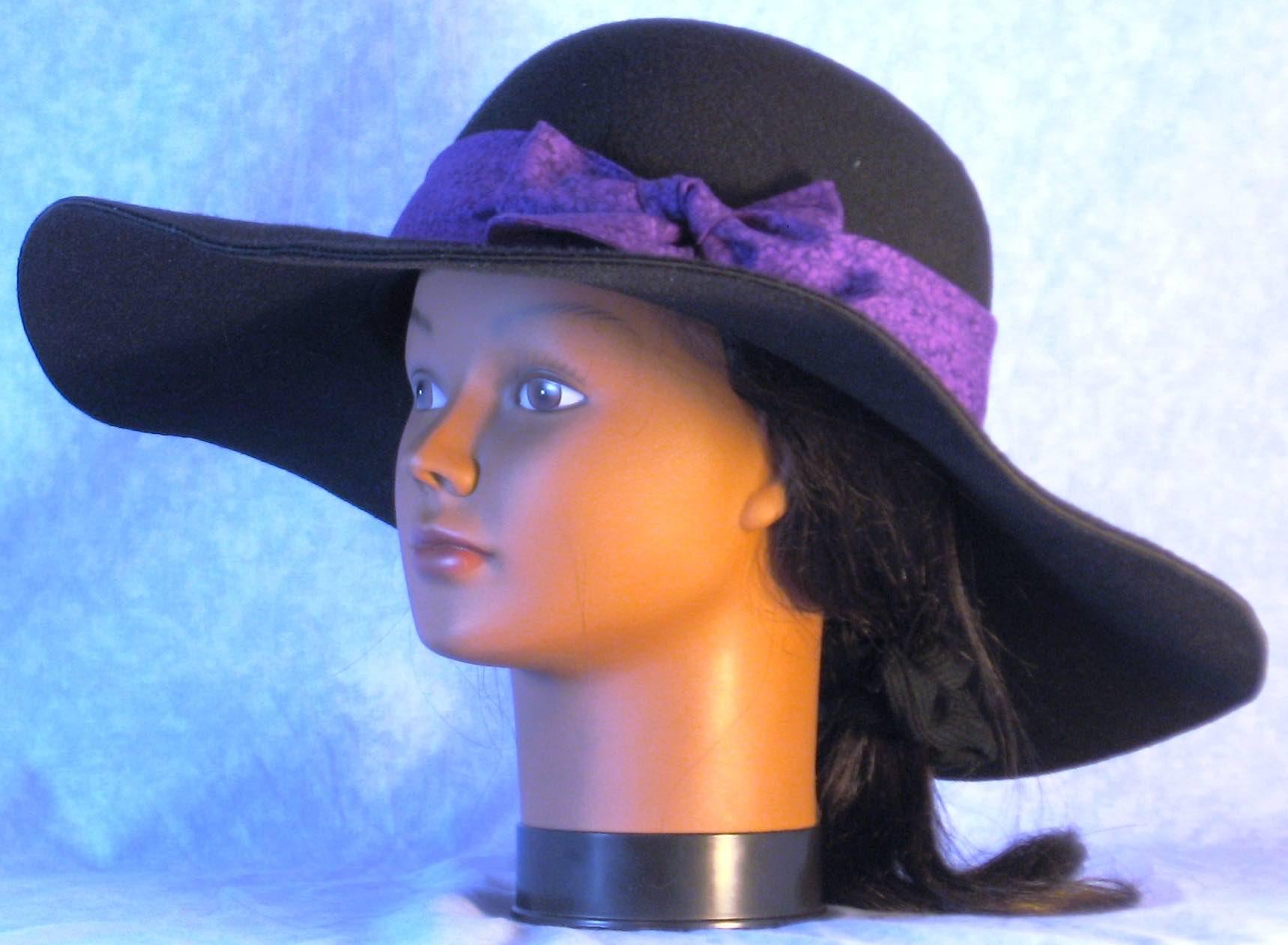 HatBand-Purple Purple Daisy-left