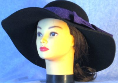 Hat Band in Purple Purple Dots - front left