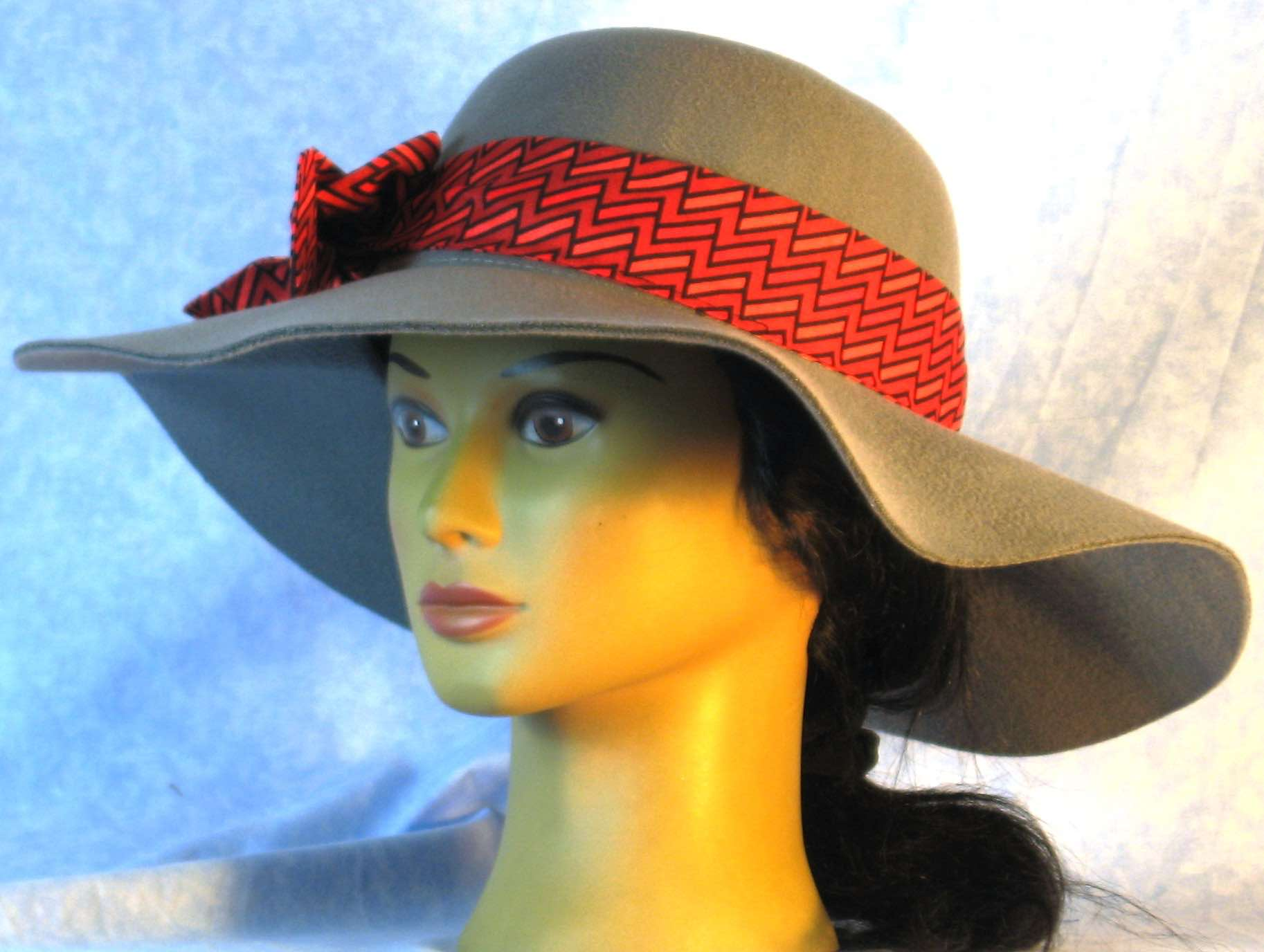 Floppy Hat-Gray Polyester Felt