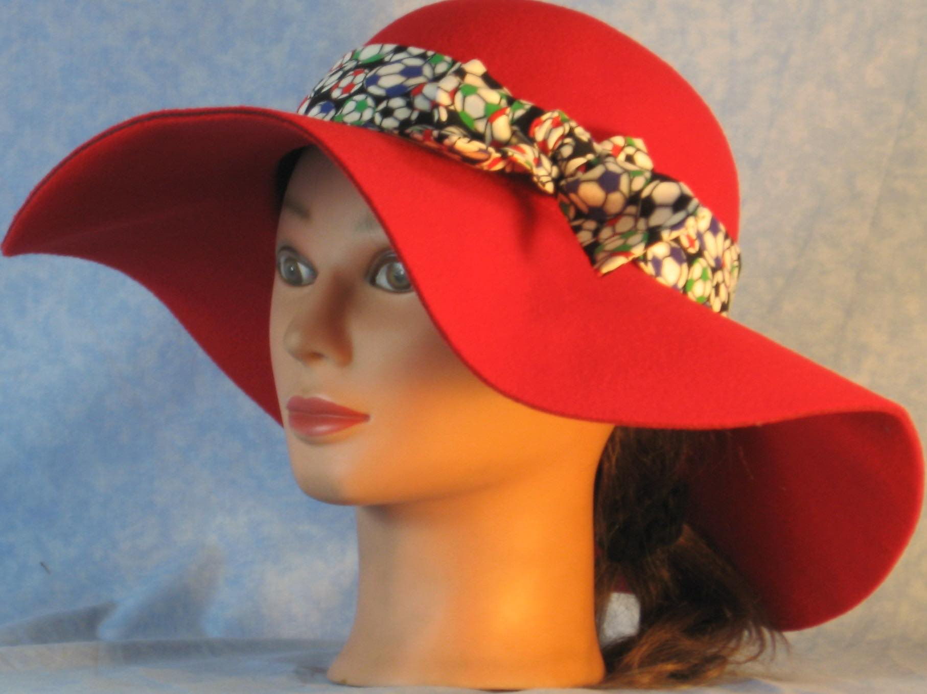 Floppy Hat-Red Polyester Felt