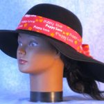 Hat Band in Red Puppy Love - left