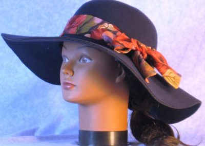 Hat Band in Rose Purple Olive Orchid - left