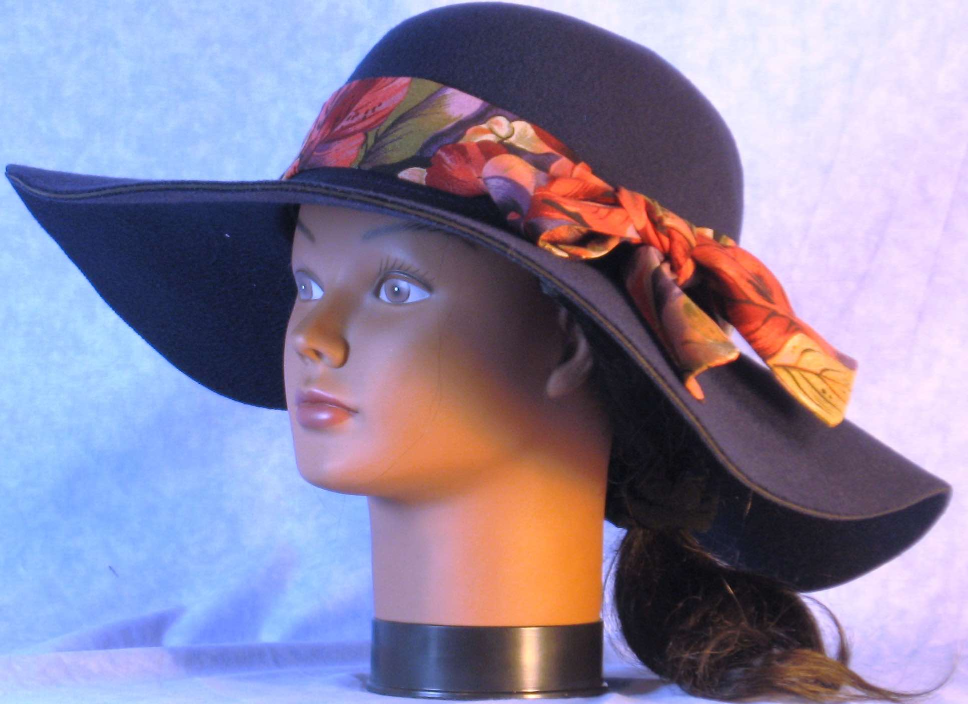 Floppy Hat-Navy Polyester Felt