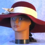 Hat Band in Tan with White Grid Flannel - front
