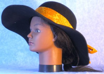Hat Band in Yellow Paisley Sparkle - left 2