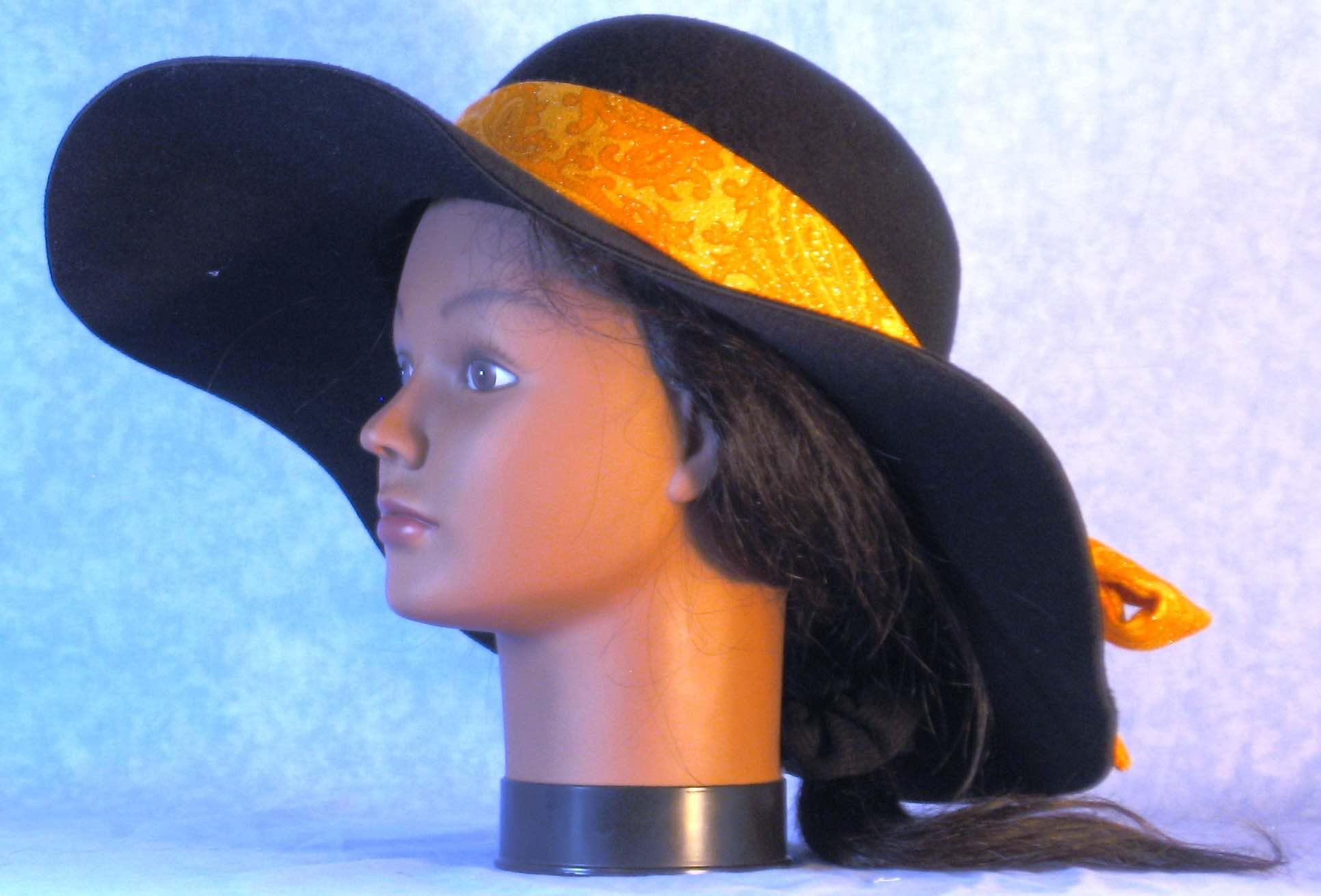 Floppy Hat-Black Polyester Felt