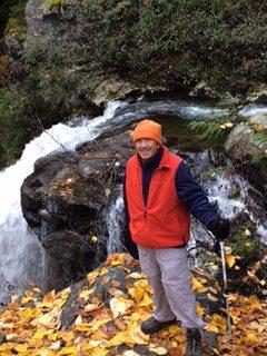 Hiking in Orange Long Hat