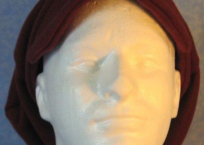 Newsboy Hat in Burgundy - front