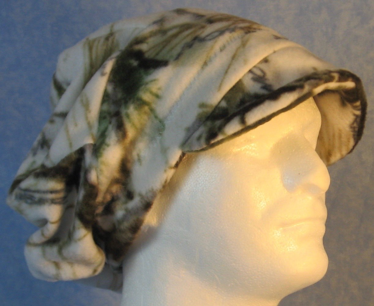 Newsboy Hat in Winter Camo-Adult M