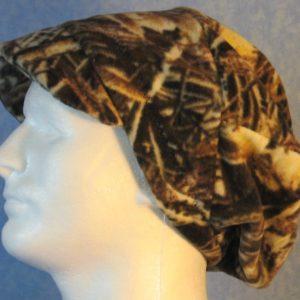 Newsboy Hat in Wood Twig Seed Camo - left