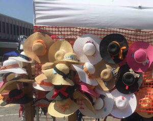 Summer Floppy Hats at a Show