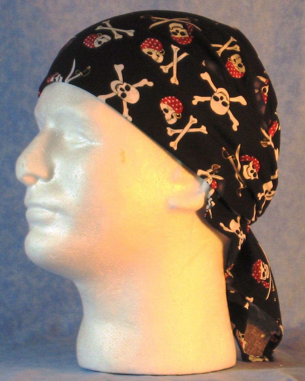 Wrap-Black Pirate Skulls-wrap-left