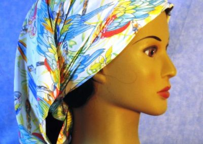 Head Wrap in Parrots - scarf - right