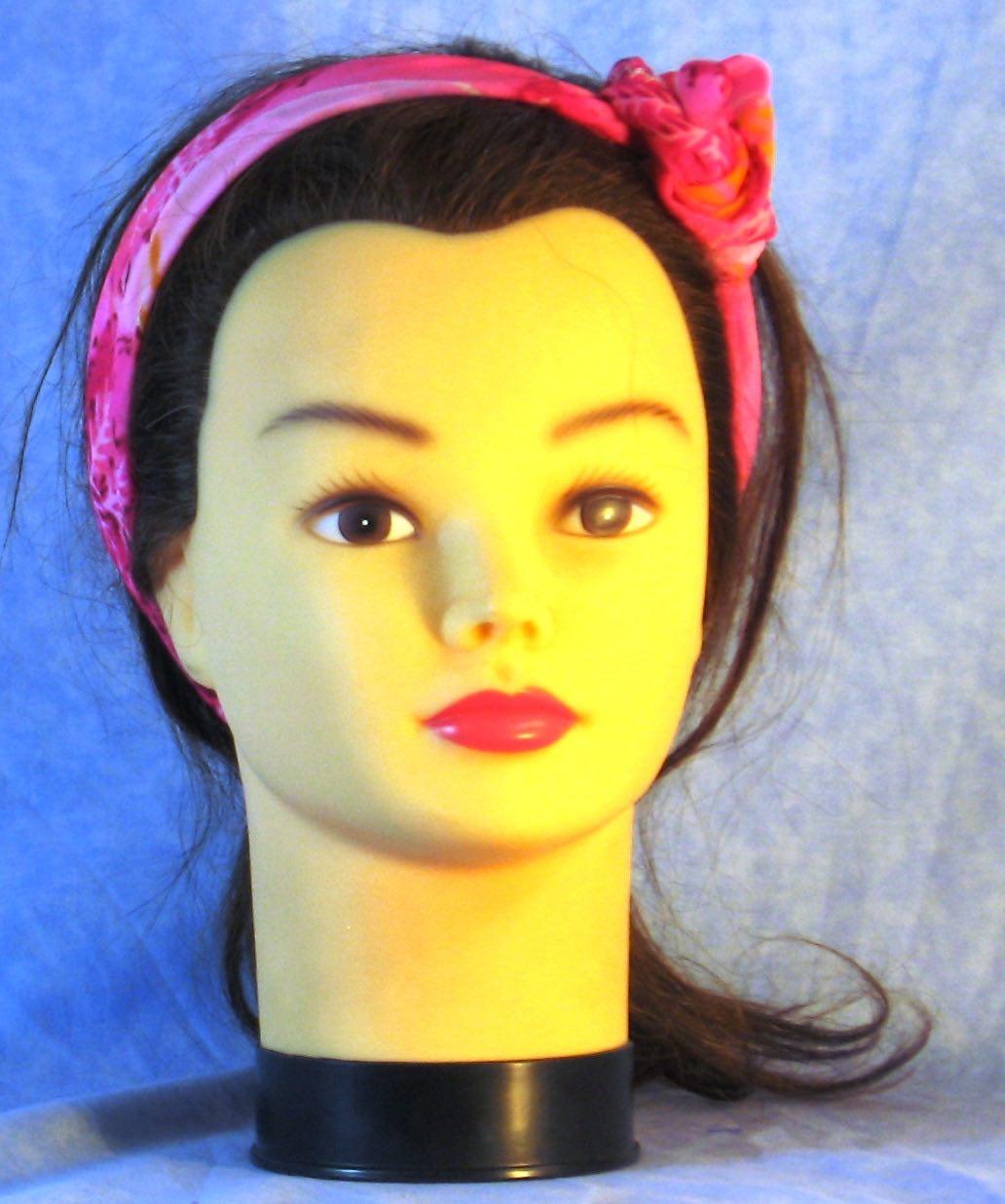 Wrap-Pink Grass Yellow Ball-headband-frontflowertie