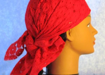 Head Wrap in Red Circles - wrap - back right