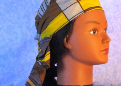 Wrap in Yellow Brown Orange Gray Geometric - wrap - right